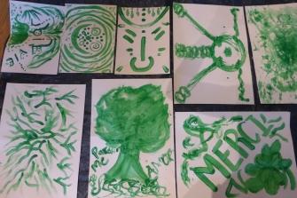 Danser et Peindre le Vert